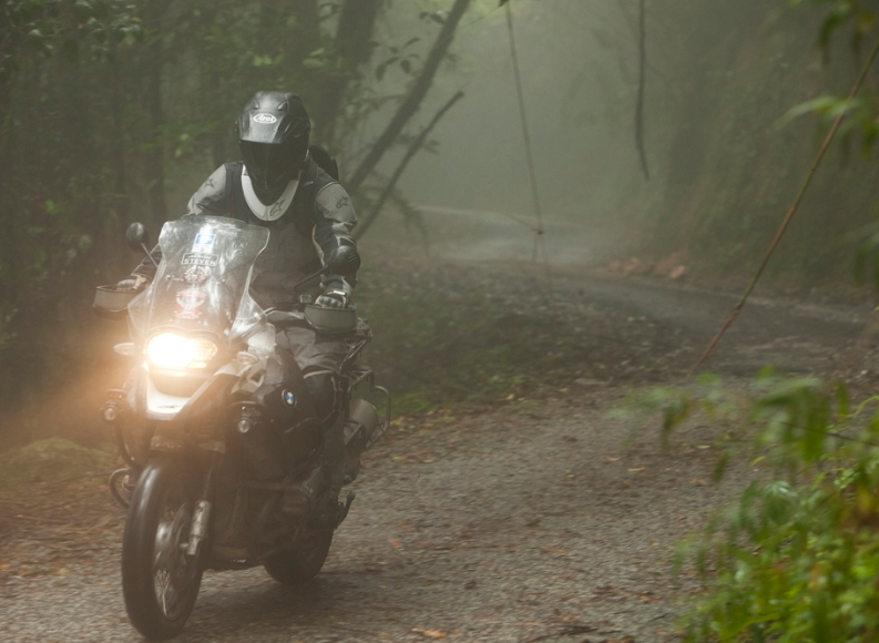 Drive a Motorcycle With Fog
